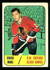 1967 68 TOPPS HOCKEY #111 CHICO MAKI VG-EX  CHICAGO BLACK HAWKS CARD