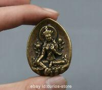 """1.6"""" Collect Nepal Tibetan Buddhism Bronze Tara Kwan-yin GuanYin Amulet Pendant"""