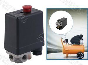 """4-Ports 1/4"""" Air Compressor Pressure Switch Replacement Parts (CPS02-4)"""
