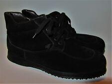 Men's HOGAN Black Suede Casual Sport Lace-up Ankle Boots US sz 10.5 Worn Once