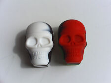 1 New silicone Skull Face 18ml container jar everyday use non-stick FDA grade