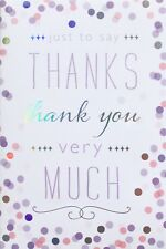 Just to say thanks, thank you very much small greetings card, blank inside, new