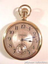 Hampden Pocket Watch #109 Open Face 15 Jewels  Double Roller  Gold Filled