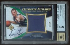 2008-09 KEVIN LOVE ULTIMATE ON CARD AUTO JUMBO PATCH ROOKIE RC 22/25 BGS 9/10