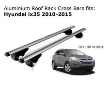 Aluminium Roof Rack Cross Bars fits HYUNDAI IX35 with roof rails 02/2010-07/2015