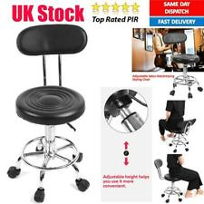 Adjust Salon Backrest Message Stool Barber Hairdressing PU Leather Rolling Chair