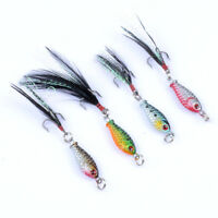 4 Pcs Plastic Lifelike Fishing Lures Bass Saltwater Fishing Tackle