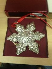 Wallace Sterling Silver 2003 Grande Baroque Snowflake Christmas Ornament