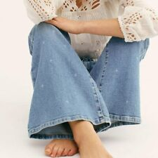 LEE Vintage Modern Desert Bleach High Rise Flare Bell Bottom Jeans Free People