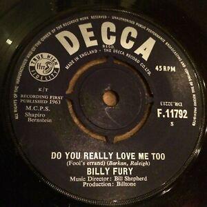 HEAR BRIT ROCKER STROLLER -BILLY FURY-FOOLS ERRAND (DO YOU REALLY LOVE ME) DECCA