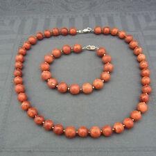 schöne Perlen Kette mit Armband Koralle