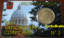 COIN CARD (50 cent) VATICANO 2011 VATIKAN VATICAN BU  Official Coincard N°2 euro