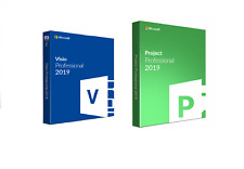 Instant delivery MS Project Professional and MS Visio Pro 2019 FOR 1 PC GENUINE