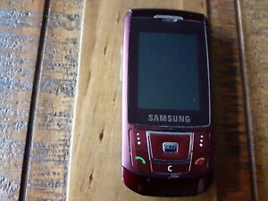 Samsung SGH D900 - Red (Unlocked) Mobile Phone no charger or box
