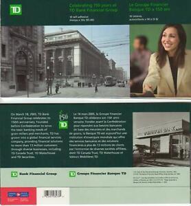 2005 Canada SC# BK 309-Toronto Dominion-pane of 10 in Prestige booklet-M-NH
