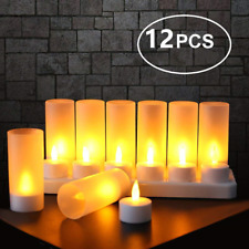 Expower LED Tealight Rechargeable Flameless Candle Light for Party, Holiday and