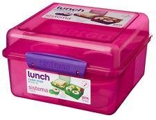Sistema Rosa 2L Cubo de almuerzo escolar compartimento sándwich yogur Max Multi Alimentos