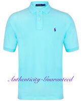 Ralph Lauren Mens Classic Fit Short Sleeve Polo Shirt Turquoise S - XXL RRP £75