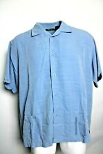 CUBAVERA XXL 2XL Casual Button Front Down Embroidered Double Front Pocket Shirt
