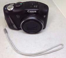 Canon PowerShot SX150 IS 14.1MP HD Digital Camera Black PC1677 W/ Wrist Strap