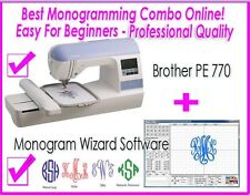 New Brother PE 770 Embroidery Only Sewing Machine + MONOGRAM WIZARD PLUS (DZ820E