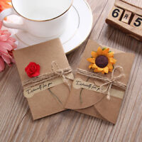 Retro 5pcs DIY Kraft Paper Wedding Party Invitation Greeting Card Envelope Hot