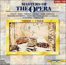 MASTERS OF THE OPERA, Vol. 10: 1892-1926 (CD) LaBOHEME, MADAMA BUTTERFLY, TOSCA