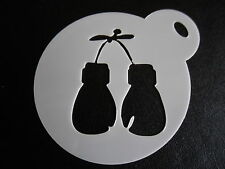 Laser cut small boxing gloves design cake, cookie,craft & face painting stencil