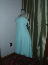 Mori Lee bridesmaid formal evening gown Sz 11-12 strapless ice blue mermaid