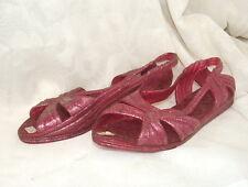 Rare ancienne paire de chaussures, claquettes Vintage Kitch, pointure 39