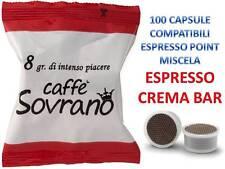 100 cialde capsule caffè sovrano CREMA AROMA compatibili lavazza espresso point