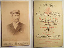 München - Adolf Gieseke - WS 1894/1895 - CDV Braunschweig Eickendorf/ Studentika