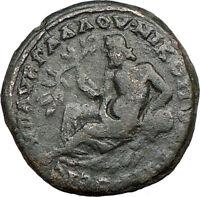 SEPTIMIUS SEVERUS Nicopolis ad Istrum Ancient ROMAN COIN RIVER GOD Cult  i18807