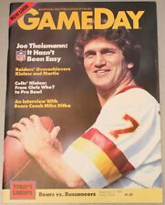 1984 Chicago Bears Tampa Bay Buccaneers Program Payton Joe Theismann Cover