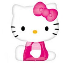 "27"" SIDE POSER HELLO KITTY -  SUPERSHAPE FOIL BALLOON BIRTHDAY PARTY"