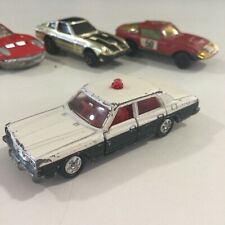 VINTAGE 1976 TOMY TOMICA NO. 4, 27, 32 & 110 TOYOTA CROWN POLICE CAR 1:64 JAPAN