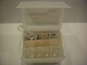 New 12 Pack Lot Wheaton 5ml V Vial Borosilicate Glass 20ml Crimp Top