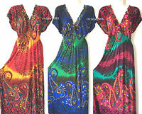 PLUS SIZE Women Long Maxi summer beach hawaiian Boho evening party sundress #16