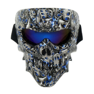 Skull Tactical Mask Paintball Airsoft CS Full Face Protective Army Fans Helmet