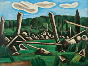 Marsden Hartley The Old Bars Dogtown Giclee Art Paper Print Poster Reproduction