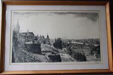 Élesdy István 1912-1987 Budapest Ungarn Stadtansicht Original Radierung Hungary