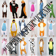 Unisex Adult Pajamas Kigurumi Cosplay Costume Anime Animal Jumpsuit Sleepwear