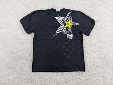 FOX Rockstar T-Shirt Kids XL Extra Large Boy Black White Yellow Motocross Biking