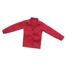 2pcs 1//6 Langarm Karo Hemd Shirt für 12 Zoll Männliche Action Figur,