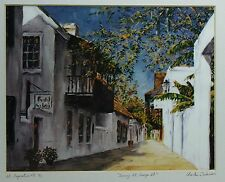 """Signed Limited Edition Print """"Sunny St. George St."""" #8/10  by Charles Dickinson"""