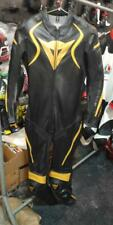 Dainese gold MOTORBIKE MOTOGP RACING COWHIDE LEATHER 1/2 PC BIKERS SPORTS SUIT