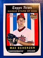 2008 Topps Heritage   Max Scherzer (RC) Diamondbacks