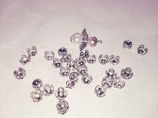 100 filigrane Perlenkappen Perlkappen 8 mm Schmuck Basteln DIY Platinfarben