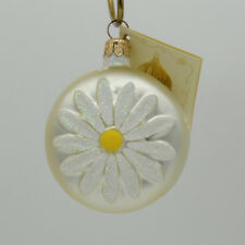 Patricia Breen 1998 Christmas Ornament Daisy Medallion Pearl 9899 New In Pack