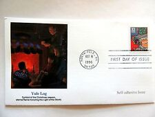 "October 8th, 1996 ""Yule Log"" First Day Issue Lot #2"